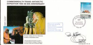 British Antarctic Territory FDC Sc 147 Signed Peter Jeffries Cachet Surveyor ...