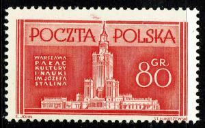 Poland #595  MNH - Palace of Culture (1953)