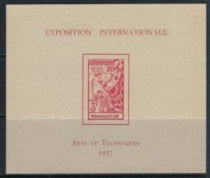 Madagascar #197*  CV $7.25  French Int'l Exhibition Souvenir sheet