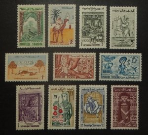 Tunisia 338-63B. 1959-61 !/2m - 1D Pictorials, NH