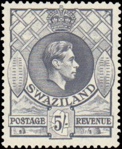 Swaziland #36, Incomplete Set, 1938, Hinged