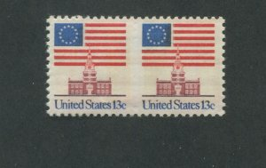 United States Postage Stamp #1622a MNH VF Imperf Between Pair