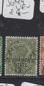 INDIA CHAMBA  (PP2410B)  KGV  4 A       SG 49        VFU