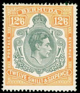 BERMUDA SG120b, 12s 6d Grey & Pale Orange, M MINT. Cat £110.