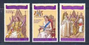 Mauritius MNH 433-5 Silver Jubilee QE II