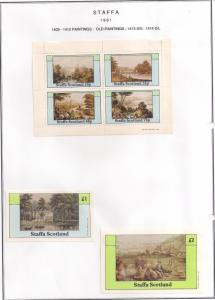 SCOTLAND - STAFFA - 1981 - Old Paintings  - Perf 4v, Souv, D/L Sheets - MLH
