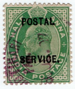 (I.B) India Revenue : Postal Service ½a
