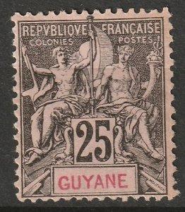 French Guiana 1892 Sc 42 MNG