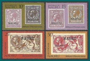 Nauru 1976 Stamp Anniversary, MNH  138-141,SG147-SG150