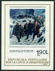 Albania 1910,MNH.Michel Bl.68. Painting 1979,by Fatmir Haxhiu.WW II scene.