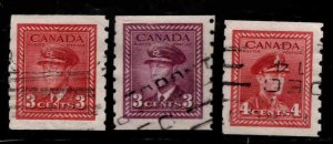 CANADA Scott 265-267 Used coil stamps