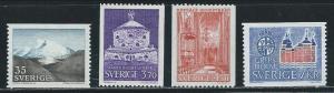 Sweden 719-22 1967 Various set MNH