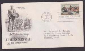 1243 Charles M. Russell ArtCraft FDC with typewritten address