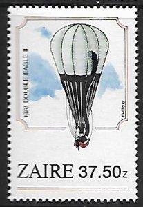 Zaire # 1166 - Hot Air Balloon - MNH