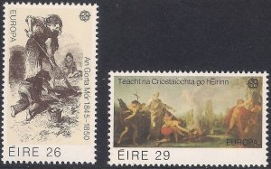 Ireland 1982 #519-20 MNH. Religion, art, Europa