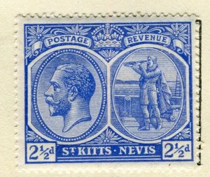 ST. KITTS; 1921-29 early GV portrait issue Mint hinged 2.5d. value