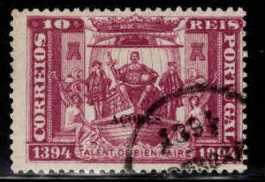 Azores Scott 66 Used, black opt on 1894 navigator stamp