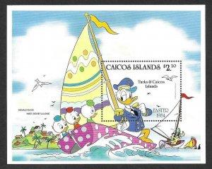 1984    CAICOS ISLANDS  -  SG.  MS 54  -  DONALD DUCK, EASTER -  MNH