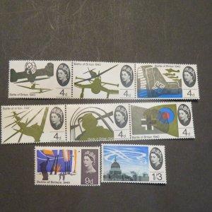 Great Britain 430-437  Battle of Britain set mint, OG, NH 1965  Cv. $5.90