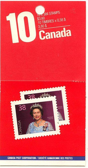 Canada - 1988 38c Pane of 10 Lunch Saver Booklet #BK102b