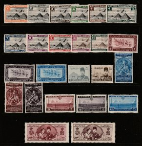 Egypt a small MH lot pre 1950