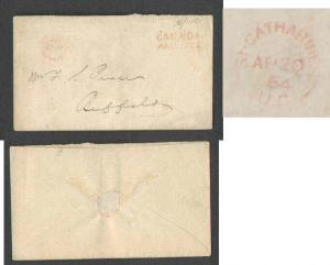 Canada #1863 - Stampless to US-Lincoln Cnty-St. Catharine