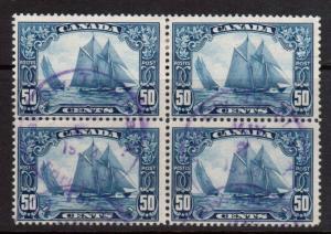 Canada #158 Used Fine Block