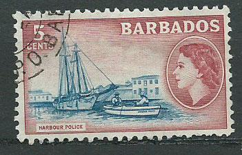 Barbados SG 293 FU  couple short perfs