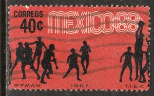 MEXICO 982, 40c Basketball 3rd Pre-Olympic Set 1967 Used. VF. (641)