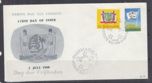 SURINAME, 1960 Freedom Day pair on Illustrated First day cover.