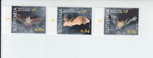 2014 Slovenia Bats (3) (Scott NA) MNH