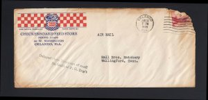 FLORIDA: Orlando 1948 Delayed Stoppage of Mail/No Fault of P.O. - BURNED