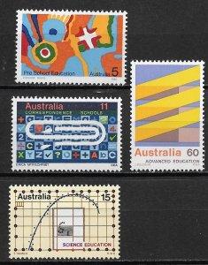 1974 Australia 602-5 Education C/S MNH
