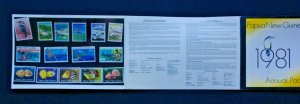 Papua New Guinea stamp pack 1981 Annual 25 stamps MINT MUH