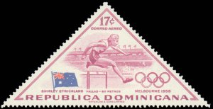 Dominican Republic #484-488, C103-C105, Complete Set(8), 1957, Olympics, Neve...