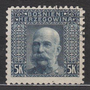Bosnia & Herzegovina - 1906 5K Franz Josef perf. 9:9 1/4:9:9 (7560)