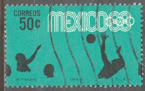 MEXICO 992, 50c Waterpolo 4th Pre-Olympic Set Used. VF. (747)