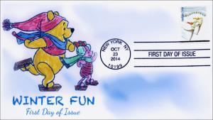 SC 4937, 2014, Winter Fun, Skating, FDC,  Item 14-187