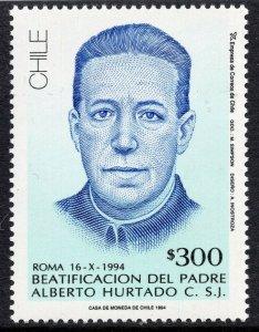 1072 - Chile 1994 - Beatification of Fr. Alberto Hurtado - MNH Set