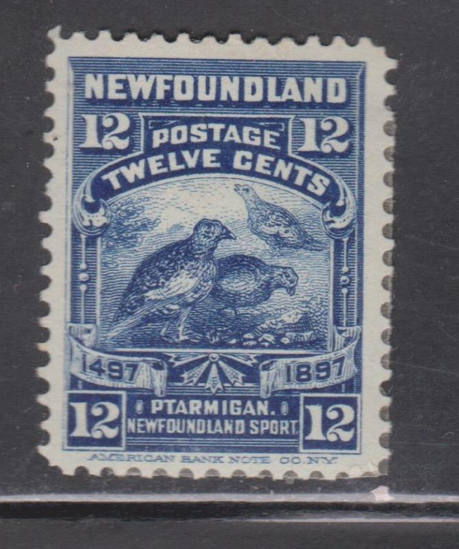 NEWFOUNDLAND Scott # 69 - Mint Heavy Hinged Ptarmigan Issue