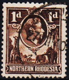 Northern Rhodesia. 1938 1d S.G.27 Fine Used