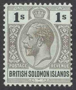 Solomon Islands Sc# 36 MH 1914-1923 6p KGV Inscribed Postage-Revenue