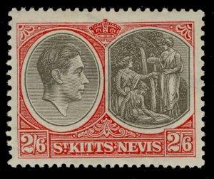 ST KITTS-NEVIS GVI SG76, 2s 6d black & scarlet, M MINT. Cat £32. PERF 13½