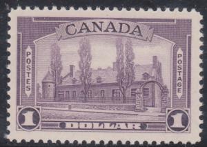Canada - $1 Chateau Aniline Violet VF-NH #245i
