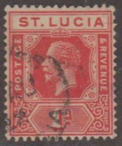 St. Lucia Scott #77 Stamp - Used Single