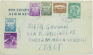93735 -  INDONESIA  - POSTAL HISTORY -  Airmail COVER to FRANCE 1955