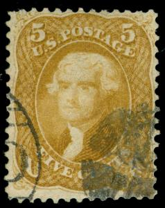 MOMEN: US STAMPS #67 USED