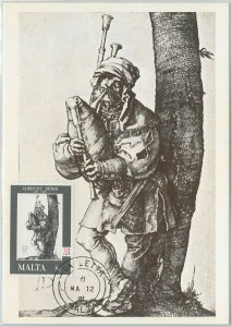 54223 - MALTA -  POSTAL HISTORY: MAXIMUM CARD - 1981   MUSIC