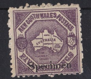 NSW115) New South Wales 1890 Centenary perf 10, 5/- Mauve SG 263d (s)