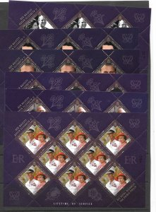 BERMUDA SG1073/8 2011 A LIFETIME OF SERVICE SHEETLETS MNH